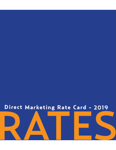 direct marketing rate card
