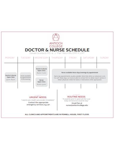 doctor nurse schedule