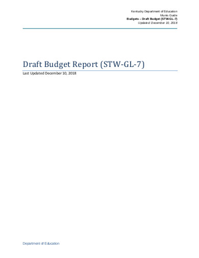 draft budget report
