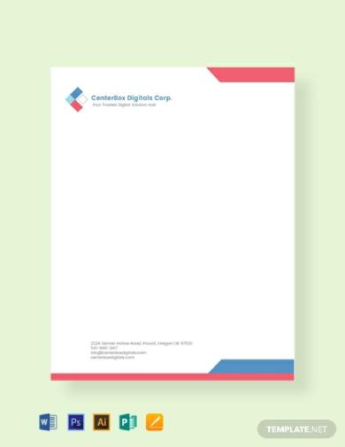 editable company letterhead