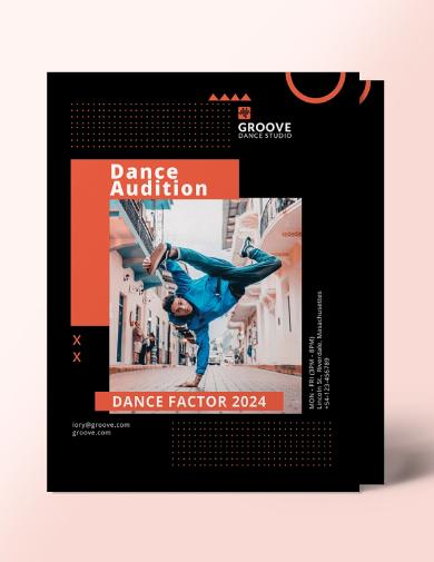 editable dance audition flyer