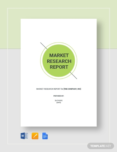 editable market research report