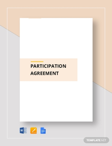 editable participation agreement