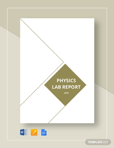 editable physics lab report