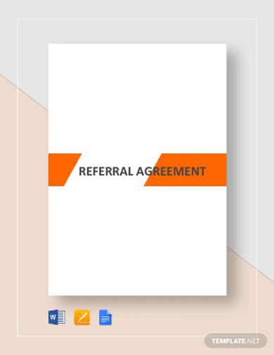editable referral agreement