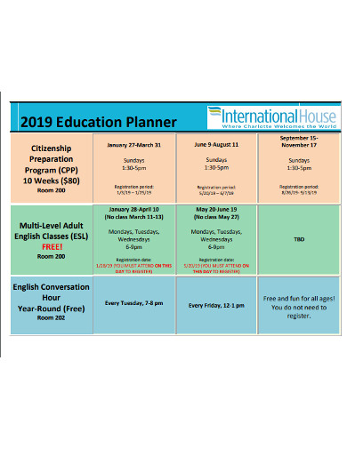 education planner in pdf