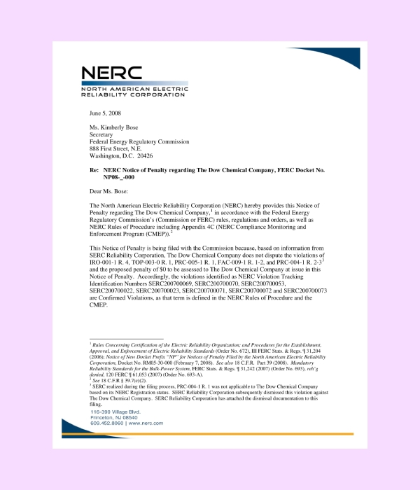 electric corporation letterhead