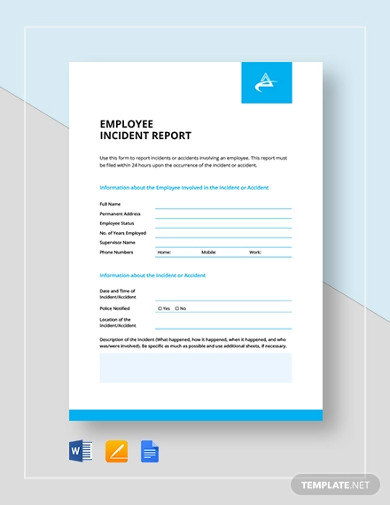 employee incident report template1
