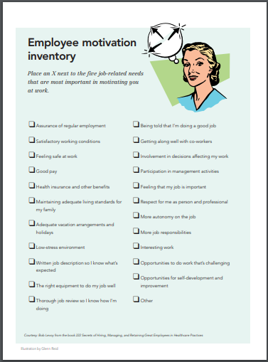 employee motivation inventory