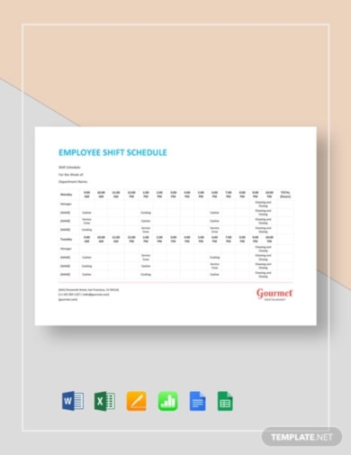 employee shift schedule template1
