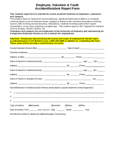 employee volunteer incident report form1