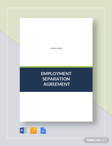 employment separation agreement