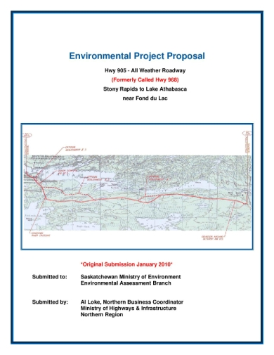 environmental engineering project proposal sample