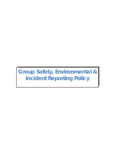 environmental incident safety report