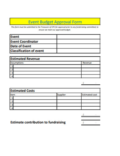 event budget approval form