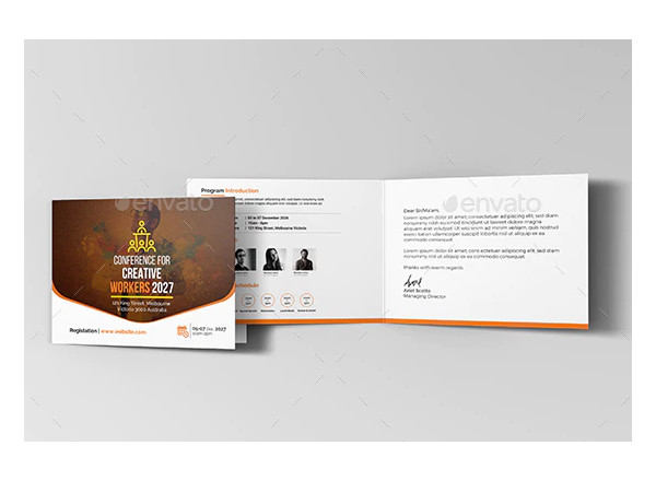 event conference invitation card example
