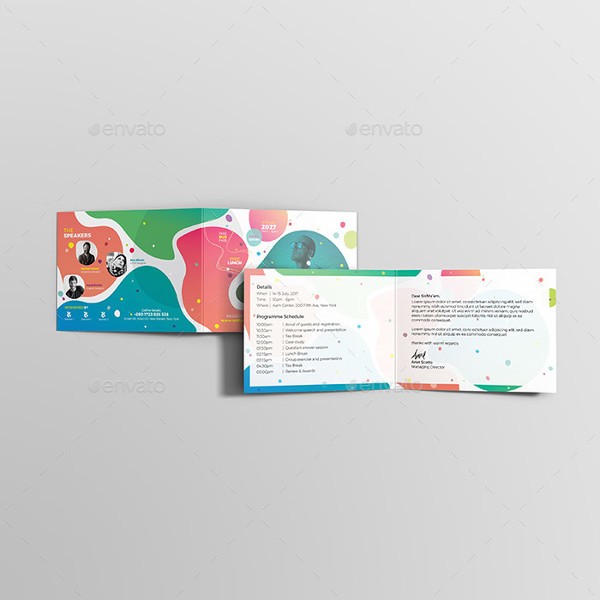 event conference invitation card template
