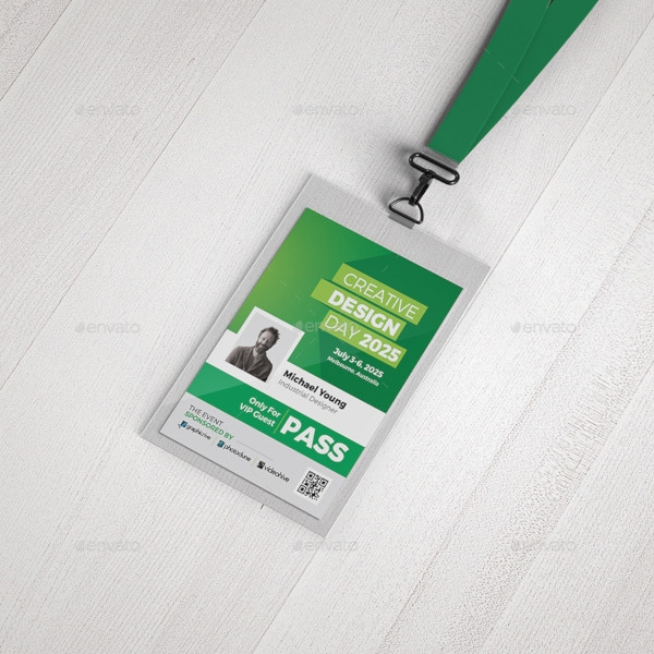 event conference vip pass id
