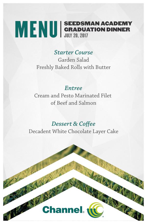 event dinner menu