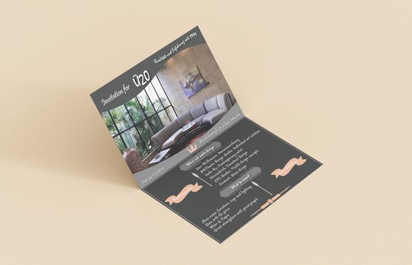event invitation postcard design