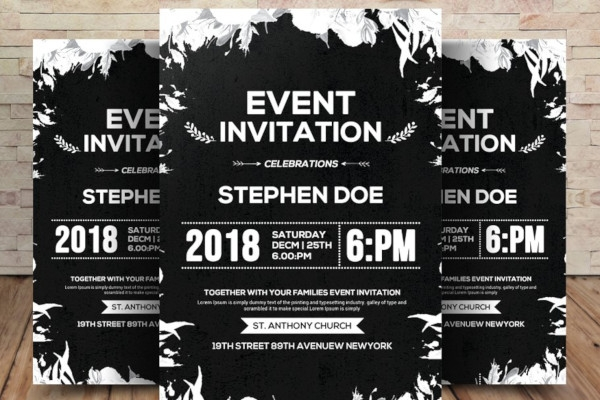 event invitation in psd