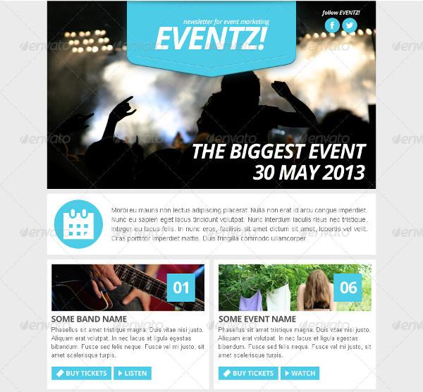 event marketing newsletter template