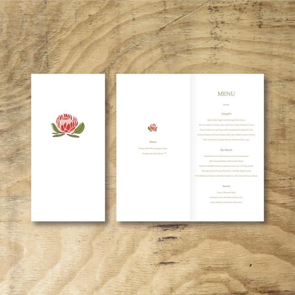 event menu design