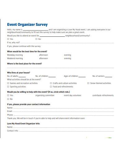 event organizer survey