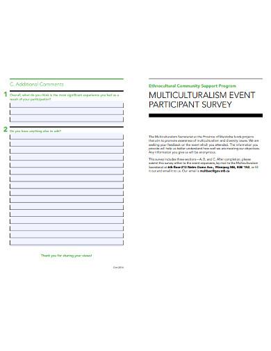 event participant survey