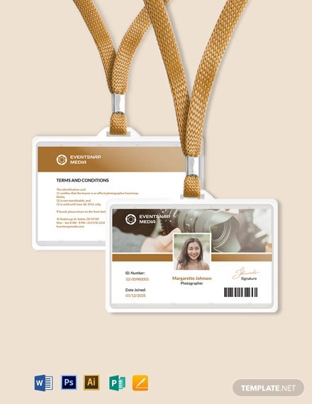 event photographer id card
