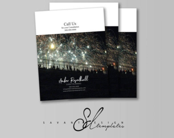 event planner brochure