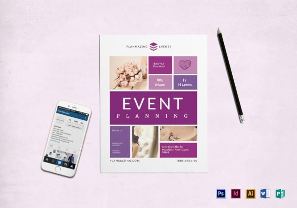 event planning flyer
