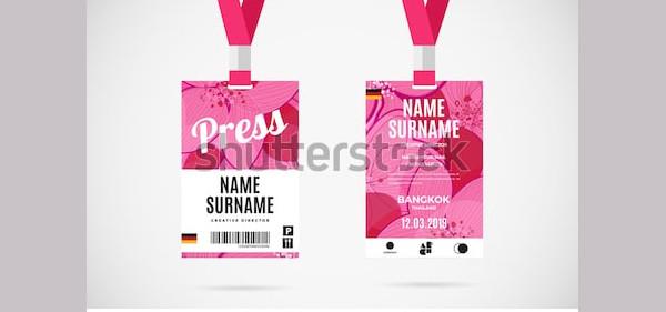 event press id card
