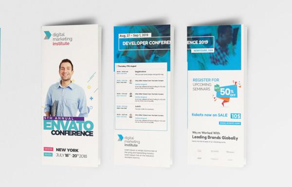 event schedule brochure