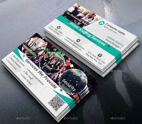 event staffing business card