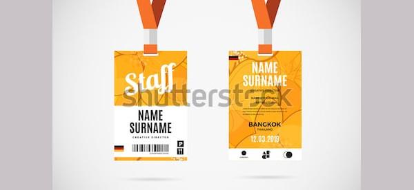 event staff id card