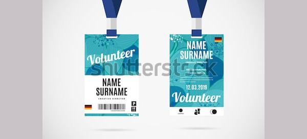 event volunteer id card