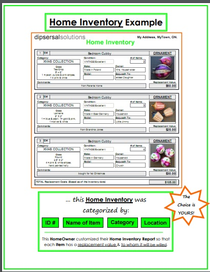 example home inventory
