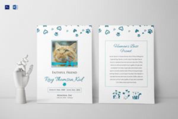 faithful pet funeral program