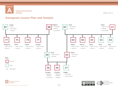 family genogram sample and lesson plan
