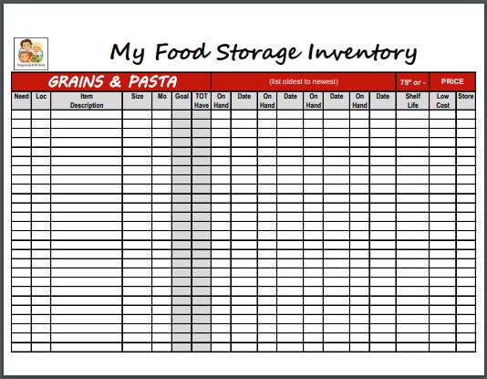 fast food storage inventory