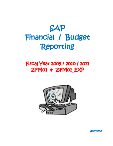 financial budget reporting
