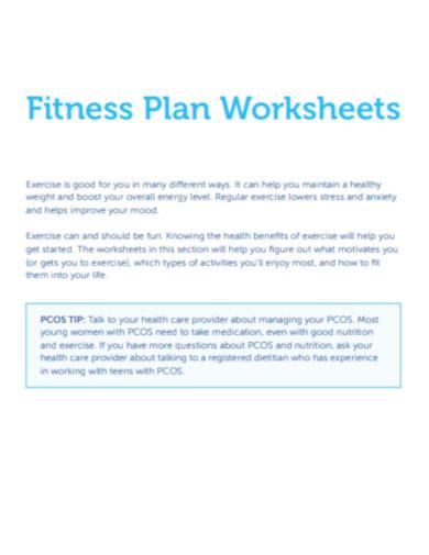 fitness planner worksheets