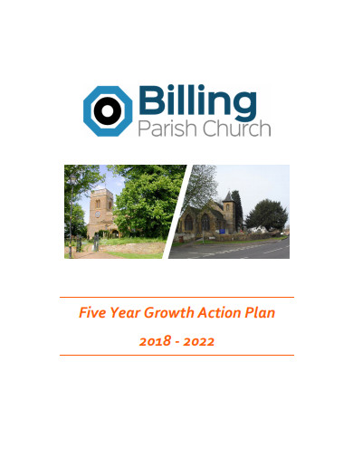 five year growth action plan of church