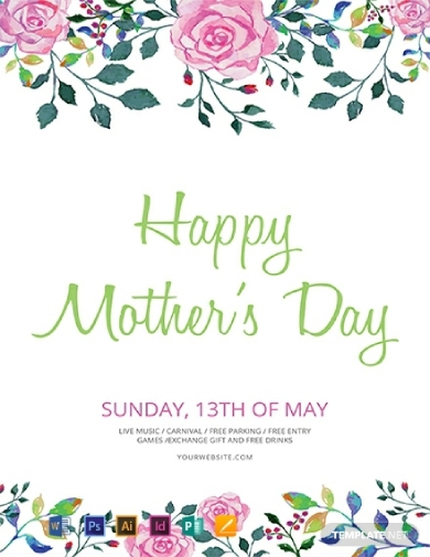 floral mothers day flyer