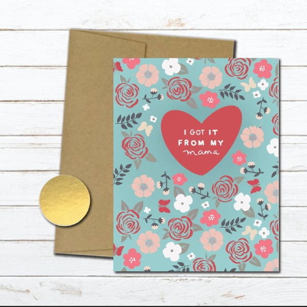 floral mothers day thank you card
