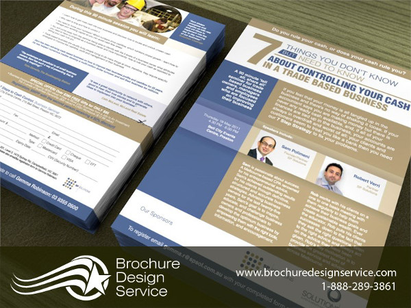 flyer for event brochure design company