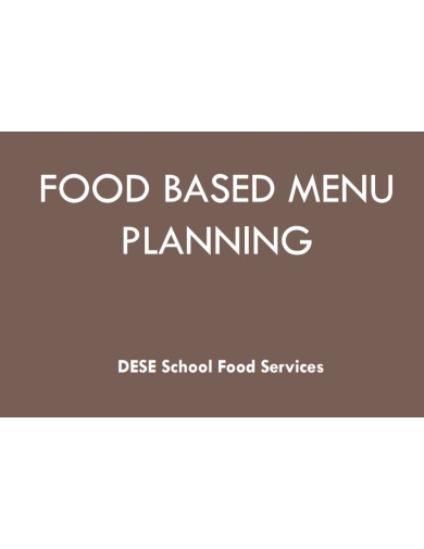 food based menu planner
