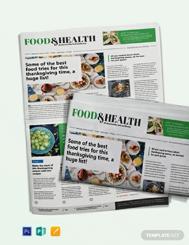 food and health newspaper