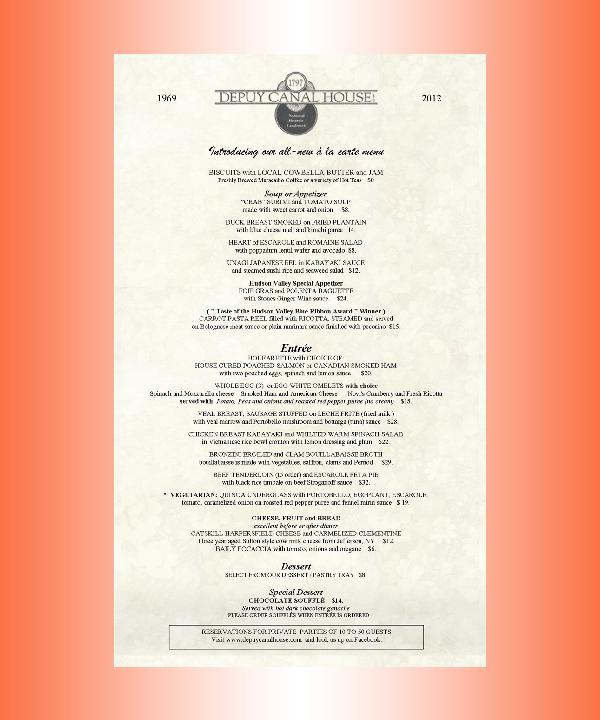 formal memorial day menu